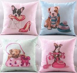 4 Styles Lovely Cani Covers Covers Dog Puppy Pet con scarpe tacco alto borsa vestiti di Natale cappello telefono stampa copertura del cuscino federa da abiti tacchi alti fornitori