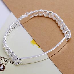 Wholesale Sterling Silver Watch Bracelets - Men's Jewelry 925 sterling silver 8mm watch chains 21cm bracelets bangles H182 gift box free 2015 New