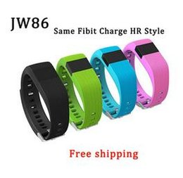 Wholesale Oled Display Bracelet - New New Similar jw86 smartband as Fitbit Charge HR Activity Wristband Wireless Heart Rate monitor OLED Display smart bracelet 1pcs