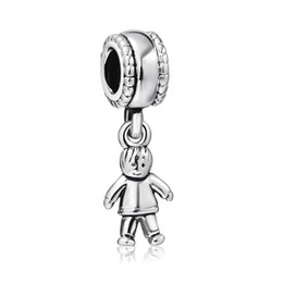 Wholesale European Boy Charms - Wholesale 925 Sterling Silver Charm Boy Pendant European Charms Silver Beads For Snake Chain Bracelet DIY Fashion Jewelry