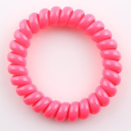 Wholesale Neon Hair Rubber Bands - Fluorescent Neon Color Telephone Cord Hair Rope for Hair Styling Headband Hairband Elastic Ponytail Holder H218