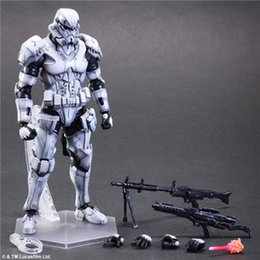 Wholesale Action Figures Square Enix - New SQUARE ENIX PA Play arts change Star Wars storm white soldiers 26cm PVC Action Figure Model Toys Gifts Collection