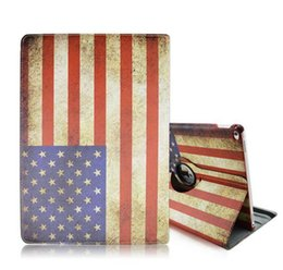 Wholesale Wholesale Cover Ipad Usa - Hot ipad Pro USA UK National Flag Design Cover for 360 Rotating Cover National Flag Case PU Leather Folio Stand Cover Skin Shell Christmas