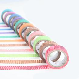 Envoltura de regalo adhesivo online-Conveniente para varios festivales de papelería 10 cinta de color envoltura de regalo Hecho a mano decoración del hogar adhesivo cinta miniatura de dibujos animados