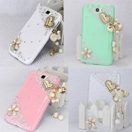 Wholesale Galaxy Note Ii Cases - S5Q 3D Lovely Heart Hard Case Cover Back Skin For Samsung Galaxy Note 2 II N7100 AAACLX