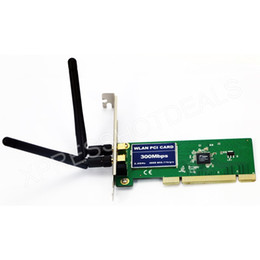 Wholesale Pci Wifi Card Desktop - Wholesale- PCI 300Mbps 300M 802.11b g n Wireless WiFi Card Adapter for Desktop PC Laptop