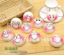 Милые сотовый телефон ремни онлайн-Wholesale-Free shipping Steamed bun expression Squishy Buns Bread Charms(4.5*6cm), cute Squishies Cell Phone Straps,100pcs/lot,Wholesale