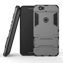 Étui en métal iphone metal en Ligne-Étui rigide Iron Man Hybrid 3 en 1 PC + TPU Dual Color Support Holder Cover pour iPhone 6 6S Samsung S6 S5 HTC M8 LG