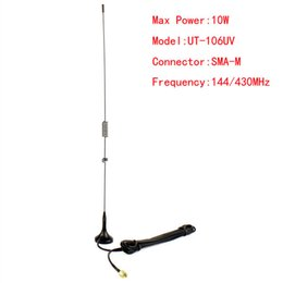Wholesale Yaesu Vx Antenna - Wholesale-J2521A NAGOYA UT-106UV SMA-M UHF+VHF Magnetic Vehicle-mounted Antenna for YAESU VX-1R VX-2R 3R TONGFA UV-985 UV-3R walkie talkie