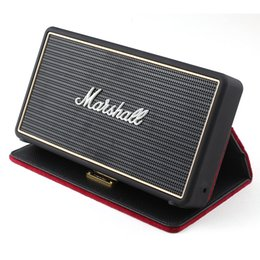 Wholesale Mp3 Case Speaker - Marshall Stockwell Portable Bluetooth Speaker Wireless Speakers With Flip Cover Case DHL drop shipping AAA quality