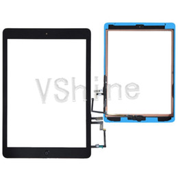Wholesale ipad air tools - Wholesale-Wholesale White Color For ipad Air Touch Screen Digitizer assembly with home button for ipad air Generation Free Tools as Gift