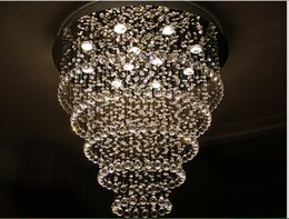 Wholesale Iron First - D500mm Modern Crystal Pendant Lamp First-Level K9 Crystal Chandelier For Living Room With G10 Bulbs,LED Bulbs AC 100% Guaranteed