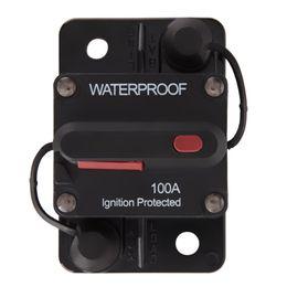 2019 atv unidad trasera Al por mayor-100Amp 12v / 24v Impermeable Manual Restablecer Interruptor de Circuito Flush-Mount Boat Trolling Motor Accesorio