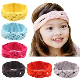 Wholesale Crochet Baby Head Band - 2016 Hair Accessories European Style Baby Crocheted Cross Girl Princess Baby Girl Hair Band Headband Baby Head Band Kids Hairwear
