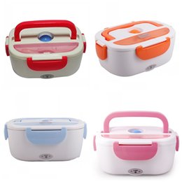 Wholesale baked products - Electric Heating Lunchbox Heat Preservation Bento And Spoon Multi Color Lunch Box Easy To Carry 39fs C R