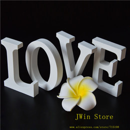 Wholesale Wholesale Wooden Wood Letters - Free Shipping free Standing White LOVE Decorative Wooden Letter Alphabet A-Z Wedding Gift Store Decor Size 8cm High A-Z 0-9 Choose