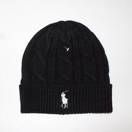 Wholesale Business Gifts Women - Hot winter Fashion men beanie women knitted hat casual sports cap keep warm ski gorro top quality classical polo skull capsArts
