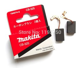 Wholesale Makita Grinders - Free Shipping 1 Pair Original Carbon Brushes CB325 For Makita 194074-2 9554NB 9557NB 9558 Grinder 16x11x5