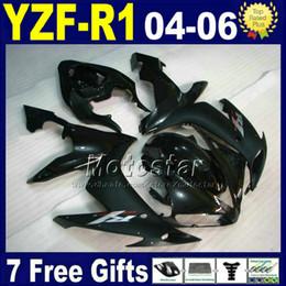 Para el kit de carenado YAMAHA R1 2004 2005 2006 INYECCIÓN en negro mate moto de carretera V5N1 04 05 06 yzf r1 carenados de carrocería de plástico desde fabricantes