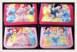 Wholesale Snow White Wallets - New Fashion Cartoon children wallets, 36 Pcs Snow White Princess Canvas Wallets bag Zipper Coin Purse
