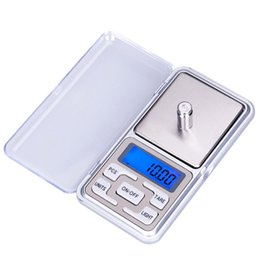 Wholesale Mini Digital Jewelry Pocket Gram - Mini Electronic Digital Pocket Jewelry Scale Balance Pocket Gram LCD Display Scales 100 200 500g x 0.01g and 500g x0.1g in stock