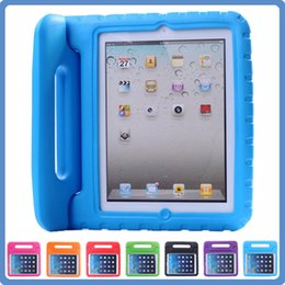 Wholesale Foam Safe - For iPad 2 3 4 air air2 ipad pro 9.7inch Kids Cover Safe Handle Shockproof Case EVA Foam Shakeproof Stand Protective Cover