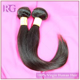 Wholesale 5a Grade Double Brazilian Hair - Brazilian Virgin hair Straight 5A grade cheap and quality human hair extension 3pcs lot natural color1B unprocessed hair weft free shipping