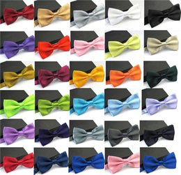 Colores esmoquin online-Ties for Men Fashion Tuxedo Classic Mixed Solid Color Mariposa Wedding Party Bowtie Pajaritas 36 colores