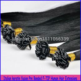auburn spitze haar Rabatt 100% brasilianisches reines Haar gerade pro verklebte flache Spitze Haarverlängerungen 6a unverarbeitete Menschenhaar Jet Black Remy Haarverlängerungen