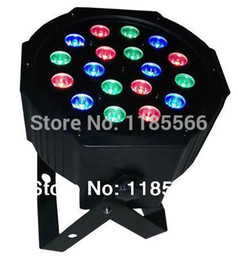 Wholesale Cheap Par Lights - Wholesale-8.25 big sales 18pcs led 1w rgb brightness indoor par lights whosle cheap price lights dmx 512 sound 7 channel