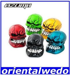 Wholesale Skull Shift Knobs Manual - Car personalized shift knob manual vehienlar skull shift lever gear stick head factory supplies hight quality dorp shipping