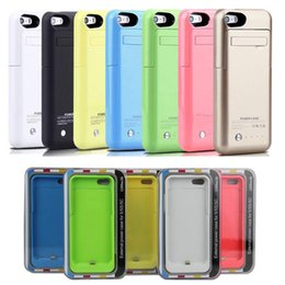 Wholesale Iphone Rechargeable Battery Case - rechargeable 2200mah power bank power case for iphone 5 5s with backup portable battery charger case fedex free shipping colorful BAC015