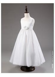 Wholesale Korean Wedding Dress Ankle Length - 2016 Korean foreign children single flower girl dress skirt wedding wedding dress princess White, pink, red, blue, purple, rose red