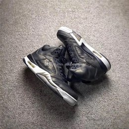 Wholesale Rubber Field - Newest Air Retro 5 Premium Heiress Metallic Field Hot Sell Men Basketball Sneakers Black Gold Camouflage Orginal With Original Box