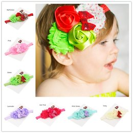 Wholesale Modern Tiaras - 8pcs Modern Holiday Christmas Fun Headbands Red White Lime Green Polka Dot Baby Girl Hairbow Photo Prop Sequin Hairbows
