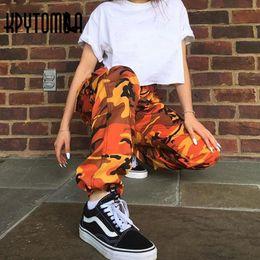 Rosa ladung hosen männer online-Großhandels-Orange Rosa Camouflage Cargo Pants Männer Frauen 2017 Hohe Qualität Hip Hop Streetwear Jogger Hosen Paar Camo Jogginghose Kleidung