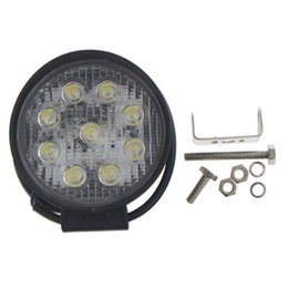 Wholesale Round Led Lights For Trucks - 27W LED Work Light bar 5 Inch Round 12V 24V IP68 Flood beam for Off Road TRUCK BOAT Tractor SUV JEEP drop shipping