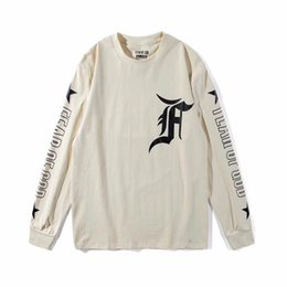 Wholesale Miami T Shirt - Wholesale hip-hop Kanye Bibb tee and custom FEAR OF GOD student couple cotton FOG 17SS Miami ALL-STR S-XL Limited long sleeved T-shirt apri