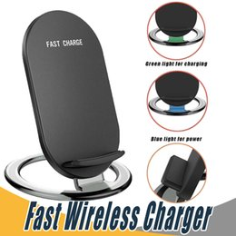 Wholesale Docks For Iphone - 2 Coils Qi Fast Quick Wireless Charger Charger Dock Phone Holder For Samsung Galaxy S7 S8 Note8 iPhone X 8 Plus