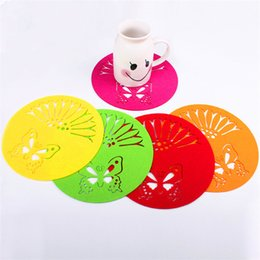 Wholesale Stainless Steel Coasters - Peach Blossom Shaped Stainless Steel Pot Mat Coasters Silicone Insulation Mats Against Hot Pad Non Slip Placemat IB580