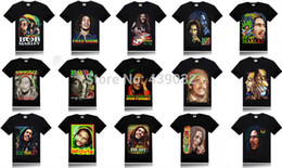Wholesale Reggae Fashion - Wholesale-Wholesale man summer men hip hop fashion Reggae father BOB MARLEY 3D shirt Short Sleeve man t-shirts tshirt brand t shirt
