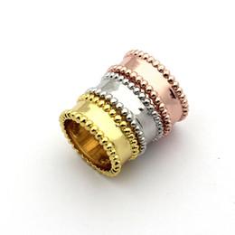 Koreanischen gold paar ring online-Rosafarbenes Paar des koreanischen zweireihigen Stahlkugelfingerringes 18K rosafarbenes Goldringart und weiseschmucksachegroßverkauf
