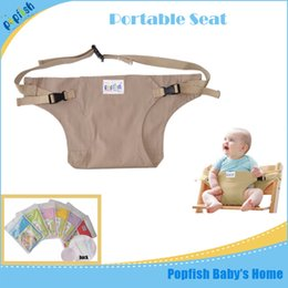 Wholesale Wholesale Grass China - China wholesale portable baby cloth seat carriable high chair feeding comfortable safely 8months&up travel seat belt cover