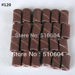 Wholesale Nail Drills Wholesale - 100pcs #80 #120 #180 Sanding Bands For Manicure Pedicure Nail Drill Machine,Grinding Sand Ring,1.2 CM* 0.8 CM,Free Shipping