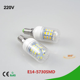 Wholesale Candle Leds Bulbs - 5Pcs Lower Price Spotlight 3W LED Corn Bulb E14 SMD 5730 24LEDs AC 220V LED lamp Energy Saving 24 LEDs Chandelier Candle light