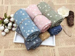 Wholesale Kids Infinity Scarves - 2017 New Children Winter autumn Comfortable soft cotton Scarf Infinity cute star Baby scarf kids scarf spashmina scarves beige