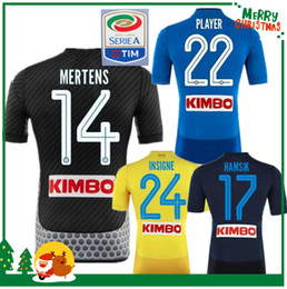 Wholesale White For Men - 2017 2018 Serie A Naples New Napoli home soccer jerseys Napoli blue football Jerseys Shirt for men 17 18 HAMSIK L.INSIGNE PLAYER Shirt