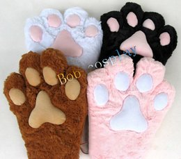 Wholesale Large Christmas Bears - Wholesale-free shipping large cat paw gloves, plush bear paw gloves, cat paw cosplay, Christmas gift gloves