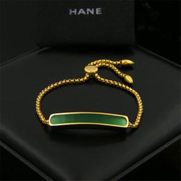 Wholesale Charm Bracelet Custom - Stylish Custom Charm Bracelets Brand New Fashion Jewelry Gold Charm Bracelets Top Quality Green Charm Bracelets MNBS001