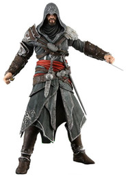 Wholesale Assassin Creed Ezio Toy - NECA Toys Assassins Creed 1 2 3 Generation Ezio Altair Hartel PVC Action Figures 7inch Model 4 Styles Dolls Birthday Party Gift